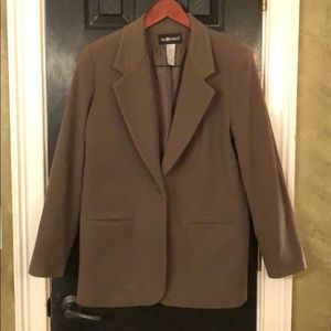 Sag Harbor Army green coat size 14
